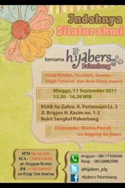 Ayo Ikuti Indahnya Silaturahmi Bersama Hijabers Palembang