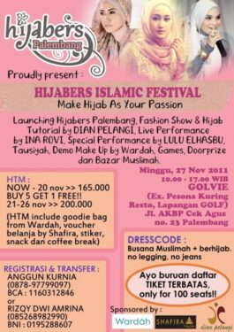 "Join Us ""Hijabers Islamic Festival"""