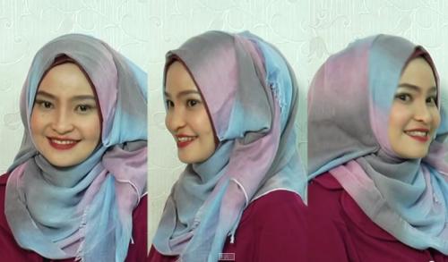 Hijab Tutorial dengan Pashmina
