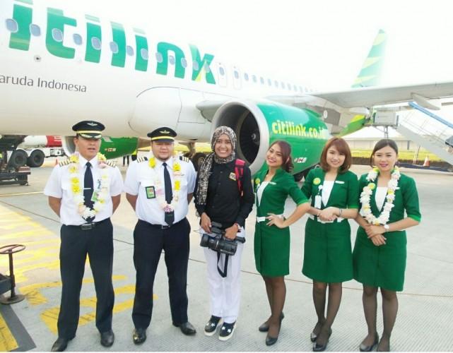 Penerbangan Perdana Citilink Rute Palembang - Bandung