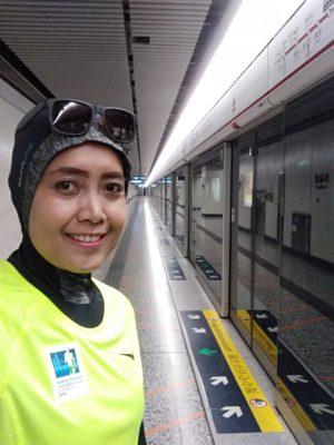 Suzan di Stasiun MTR Yau Ma Tei Hongkong