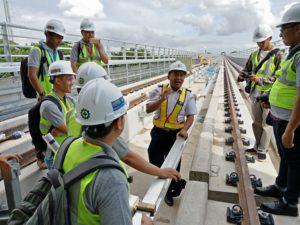 Kunjungan LRT Palembang - Stasiun Jakabaring