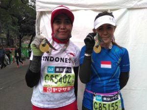 Suzan dan Rita di Tokyo Marathon