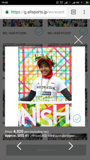 Suzan di Tokyo Marathon