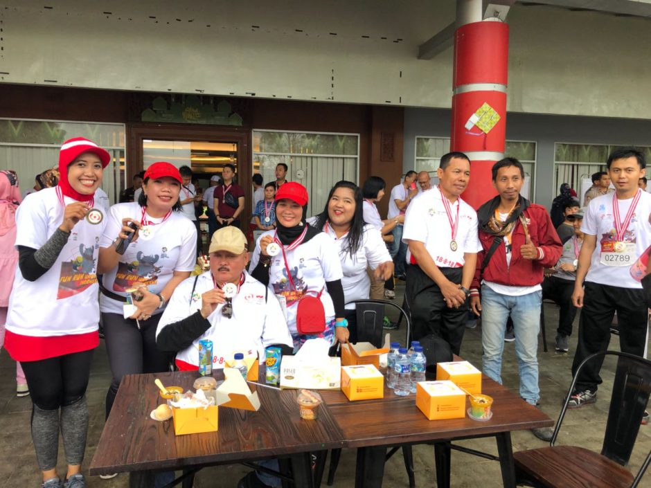Bersama Gubernur Sumsel Fun Run Asian Games 2018