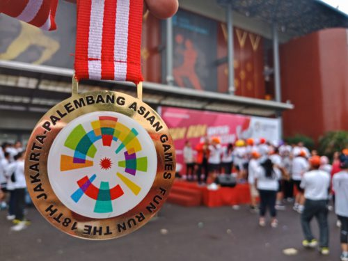 Medali Fun Run Asian Games 2018