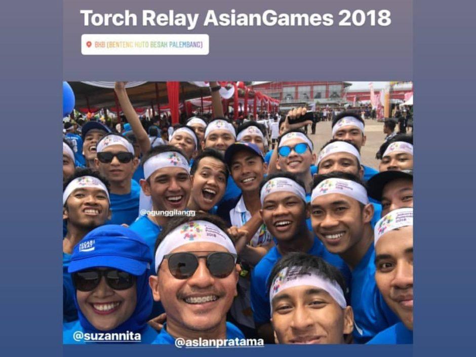 Berlari di Torch Relay Asian Games 2018, Berlari di Torch Relay Asian Games 2018, Jurnal Suzannita