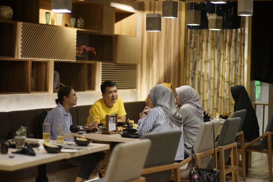 Makan di Ten Ryori Excelton Hotel Palembang