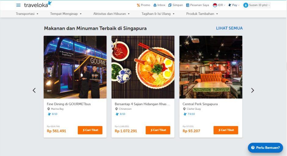 Makanan dan Minuman di Singapura
