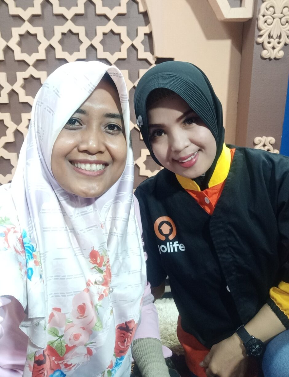 Selfie dengan Mbak Yuliana Therapist Go Massage