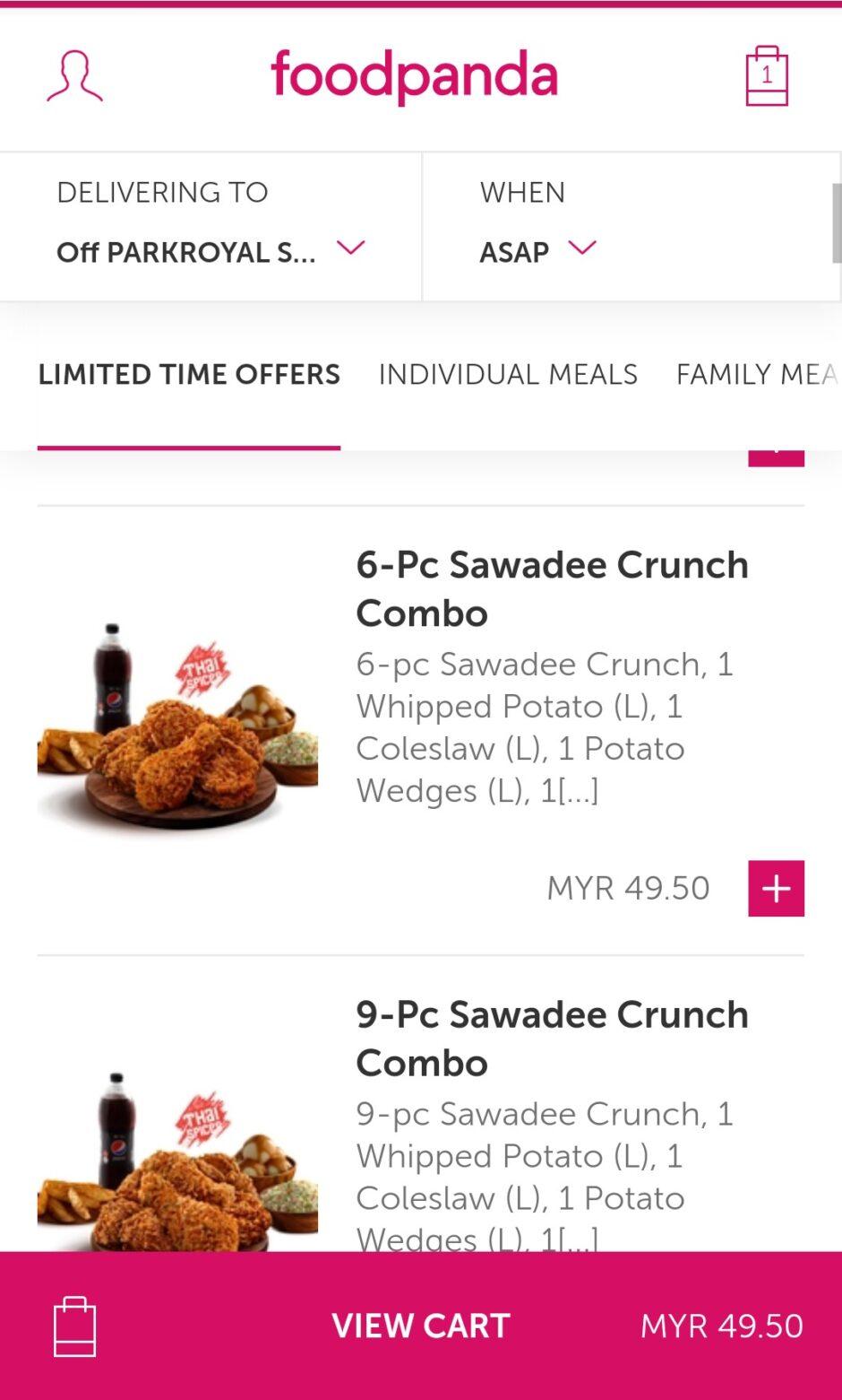 Order di FoodPanda Malaysia