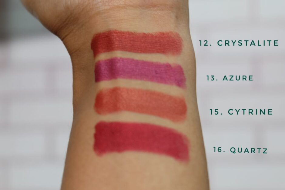 Swatch Purbasari Lipstick Color Matte Shimmer