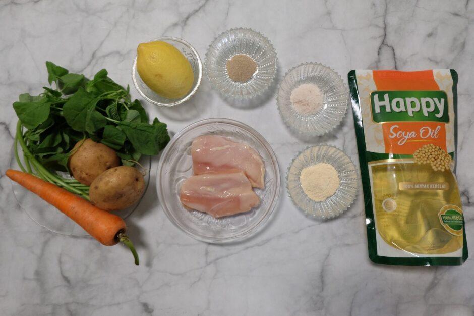 Bahan Lemon Garlic Chicken