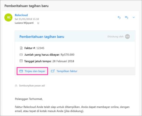 Informasi Tagihan Listrik PLN Email
