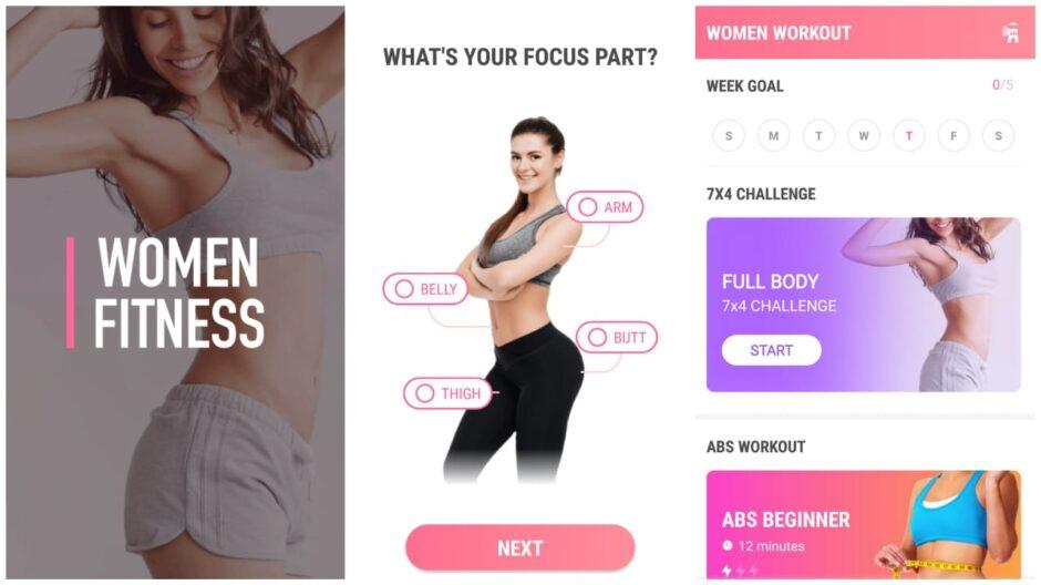 Tampilan Aplikasi Female Fitness